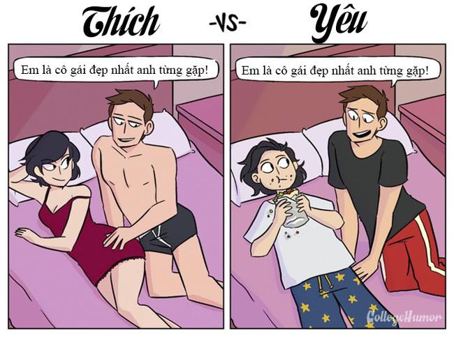 """7 điểm khác biệt giữa """"thích"""" và """"yêu"""""""